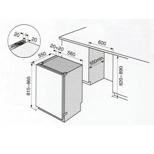 Dimensioni Congelatore ELECTROLUX CI 1301