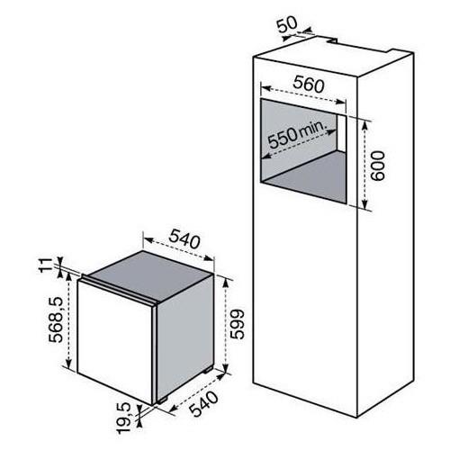 Dimensioni Congelatore ELECTROLUX CI 8001