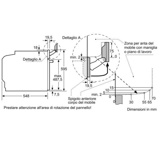 Dimensioni Forno BOSCH HRG675BS1 1