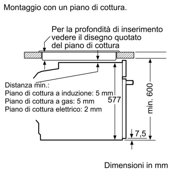 Dimensioni Forno BOSCH HRG675BS1 2