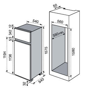 Frigocongelatore ELECTROLUX FI 292:2T 1