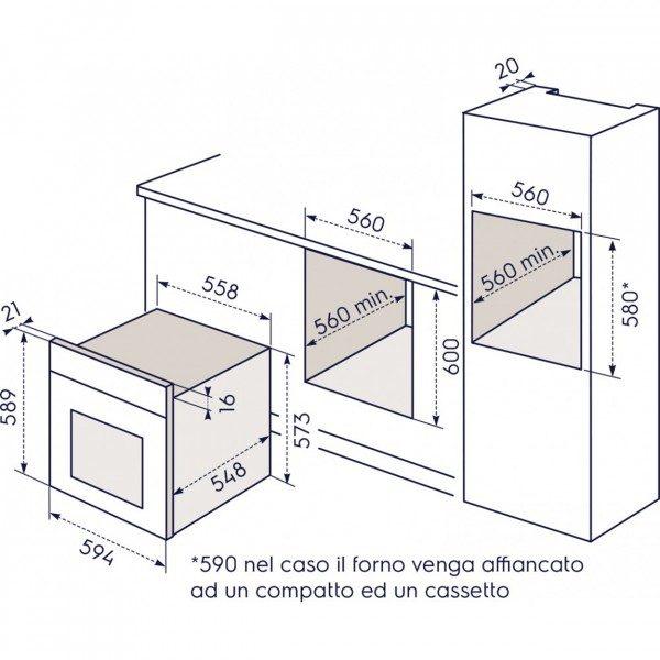 Electrolux Forno FQ 63 NE Incasso