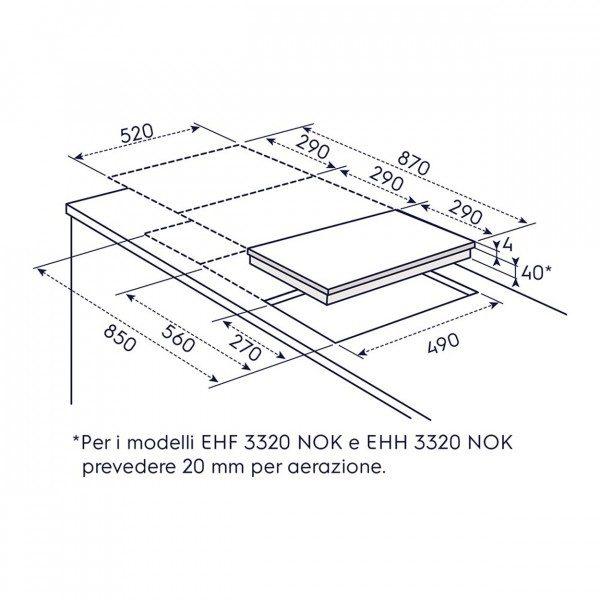 Electrolux Piano Cottura EHF 3320 NOK 2Z Incasso