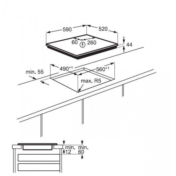 Electrolux Piano Cottura EIV 63443 BW Incasso