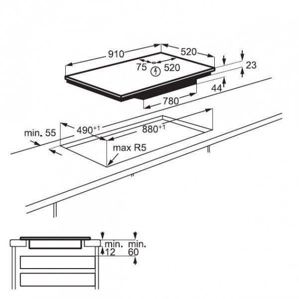 Electrolux Piano Cottura EIV 9467 Incasso