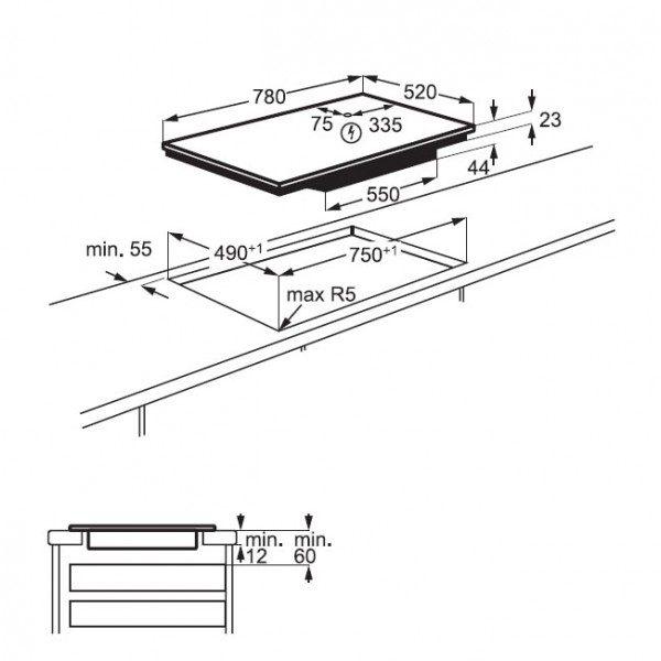 Electrolux Piano Cottura LIT 81443 Incasso
